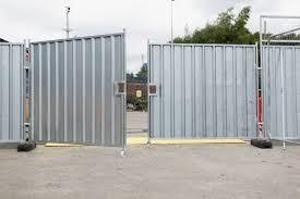 Steel Hoarding Vehicle Gate