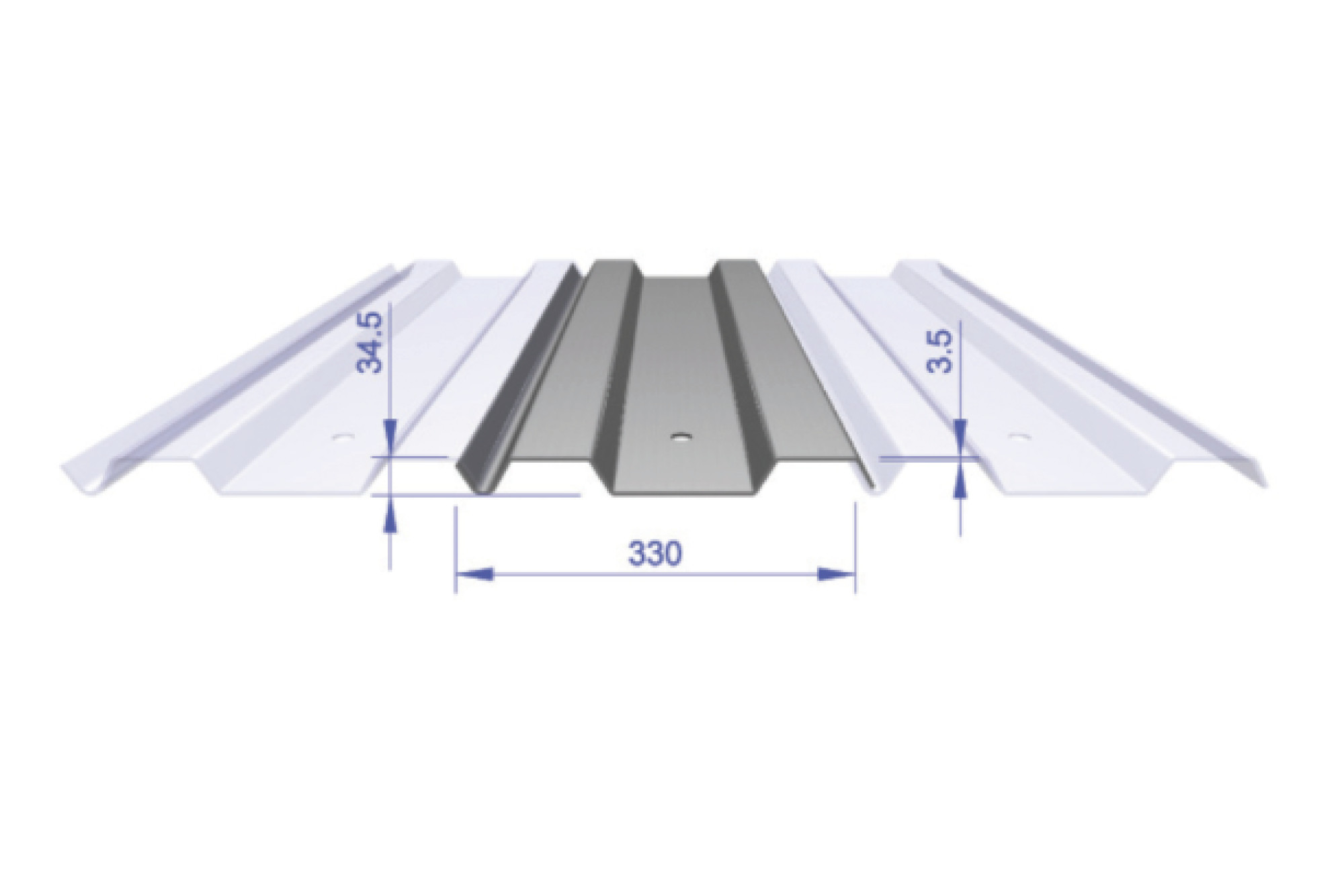 Lapped Trench Sheet - Standard 330mm Wide
