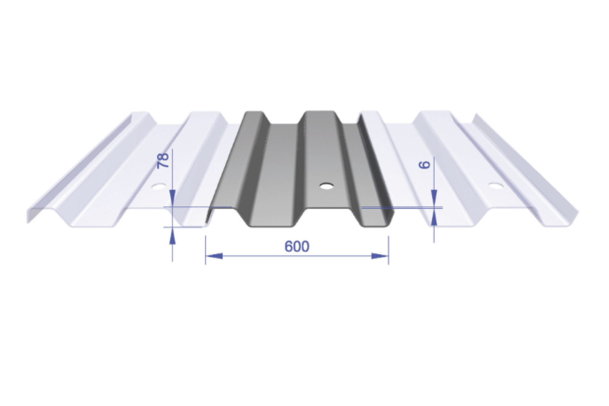 Lapped Trench Sheet - KKD 600/6 600mm Wide