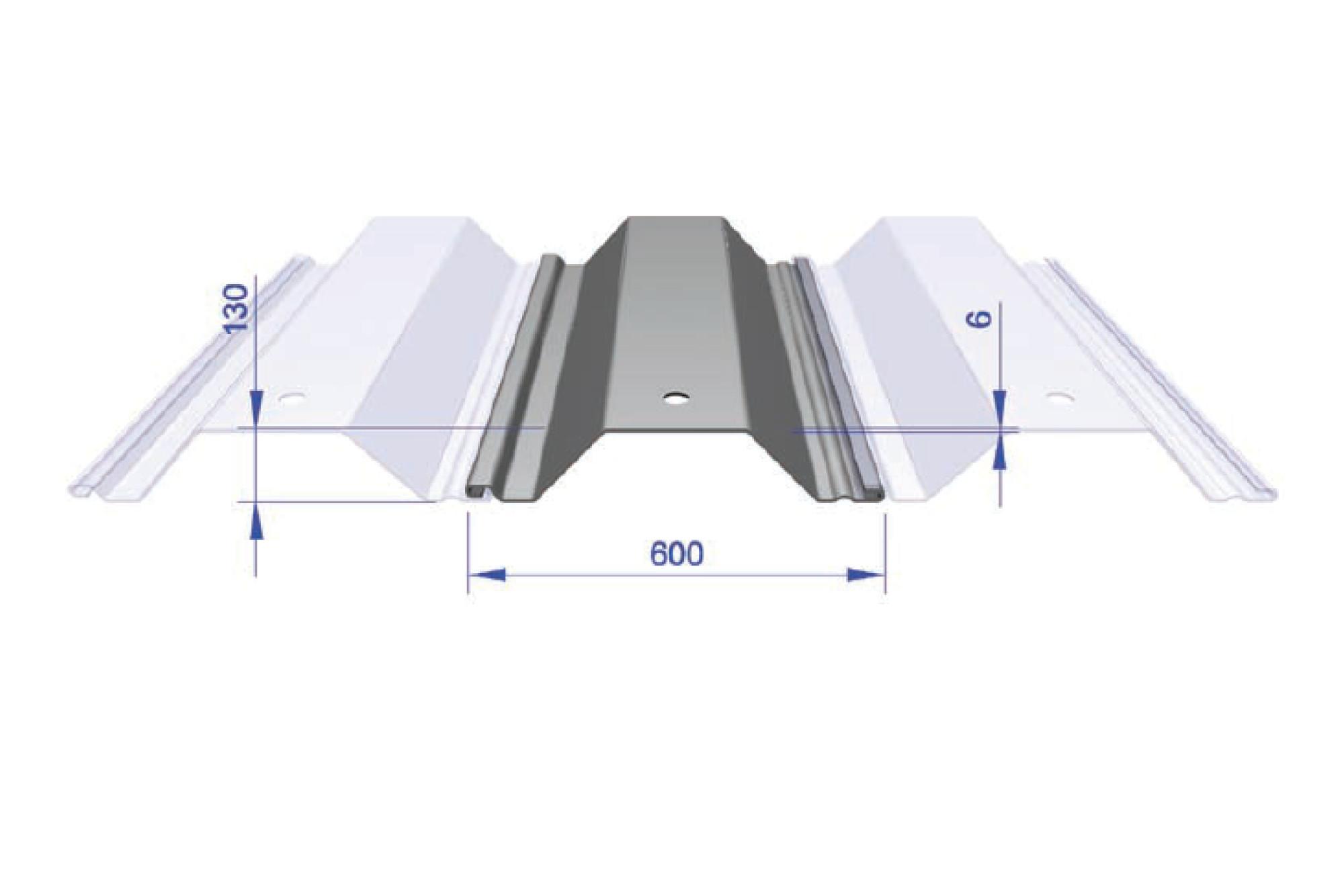 Interlocking Trench Sheet - FLP 600/6 600mm Wide