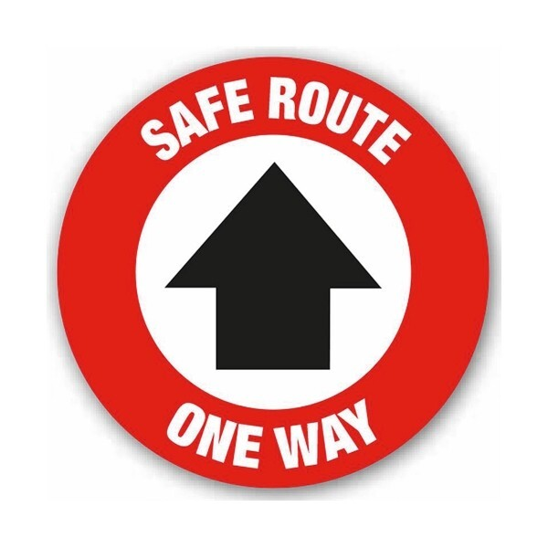 Safe Route One Way Arrow (Floor Graphic)