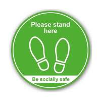 Please Stand Here / Be Socially Safe (Floor Graphic)