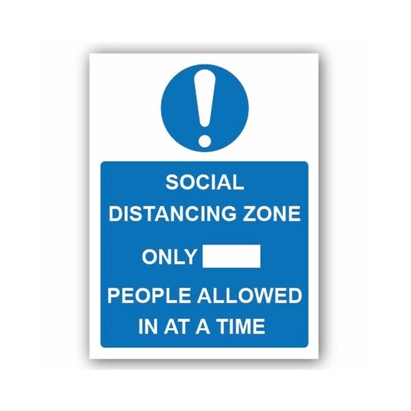 Social Distancing Zone Only (LTD) People Allowed In