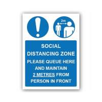 Social Distancing Zone Please Queue Here