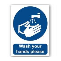 Wash Your Hands Please (Self Adhesive Vinyl)