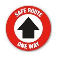 Safe Route One Way Arrow (Floor Graphic)