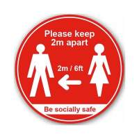 Please Keep 2mtr Apart / Be Socially Safe (Floor Graphic)
