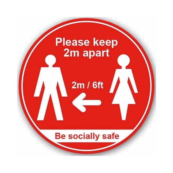 Please Keep 2mtr Apart / Be Socially Safe (Floor Graphic)