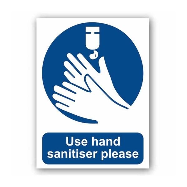 Use Hand Sanitiser Please (Self Adhesive Vinyl)